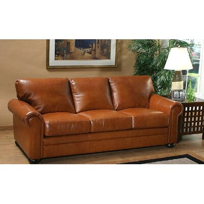 Omnia Leather Georgia Leather 3 Seat Sofa Living..