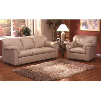 Omnia Leather Tahoe Sleeper Sofa Living Room Set
