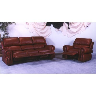 Omnia Leather Cordova Reclining Sofa Living Room Set