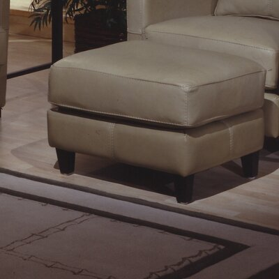 Omnia Leather Skyline Leather Ottoman