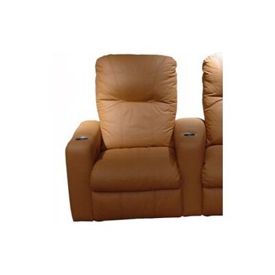 Omnia Leather Portland Home Theater Seating (Row of 3)