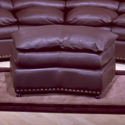Omnia Leather Williamsburg Leather Jumbo Ottoman