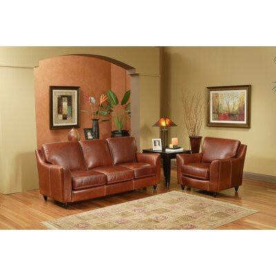 Omnia Leather Great Texas 3 Seat Leather Sofa Set