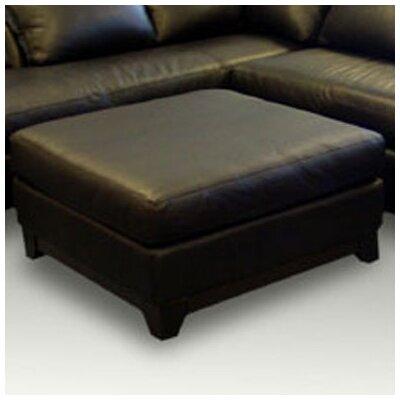 Omnia Leather Villa Leather Cocktail Ottoman