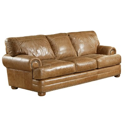 Omnia leather houston leather sofa wayfair for I furniture houston