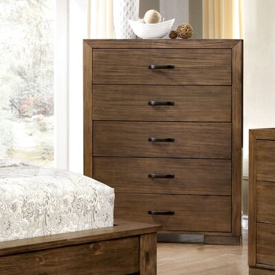 Loon Peak Fort Gibson 5 Drawer Chest