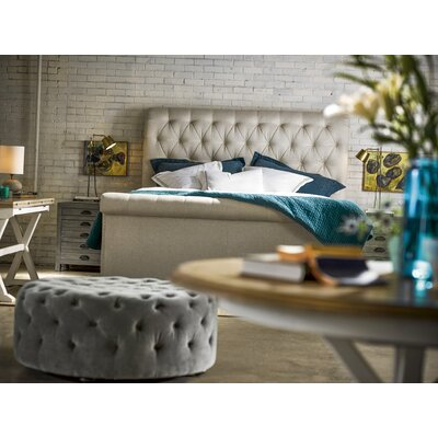 Universal Furniture Queen Upholstered Sleigh Bed