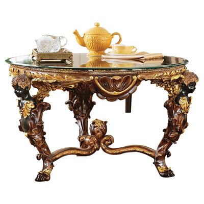 Design Toscano Louis XIV Coffee Table wit..