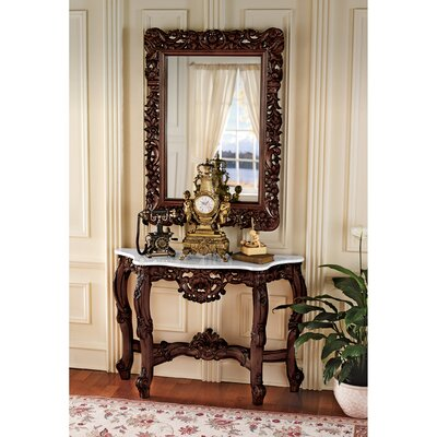 Design Toscano Royal Baroque Console Table and Mirror Set