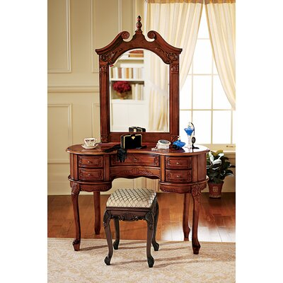 Design Toscano Queen Anne Vanity with Mirror