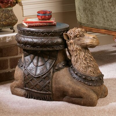Design Toscano The Kasbah Camel Sculptural End Table