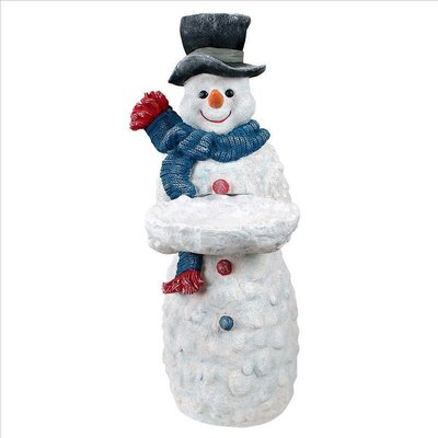 Design Toscano Flurry the Snowman Butler End Table