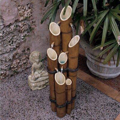 Design Toscano Resin Bamboo Sculptural Fountain Amp Reviews