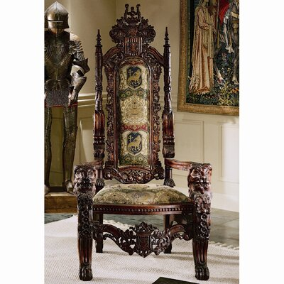 Design Toscano The Lord Raffles Lion Throne Fabr..