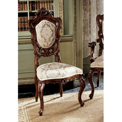 Design Toscano Toulon French Rococo Fabric Side Chair Reviews Wayfair