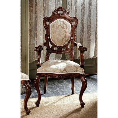 Design Toscano Toulon French Rococo Fabric Arm Chair