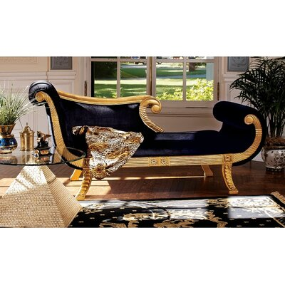Design Toscano Cleopatra Neoclassica Fabric Chaise Lounge