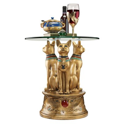 Design Toscano Royal Golden Bastet Egypti..
