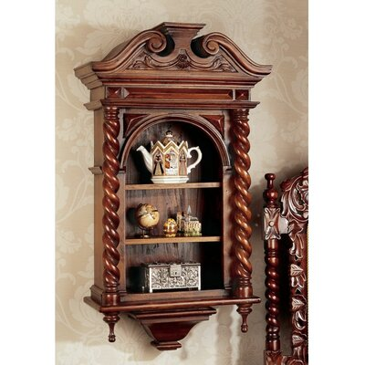 Design Toscano Charles II Wall-Mounted Curio Cabinet