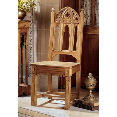 Design Toscano Sudbury Pine Gothic Side Chair