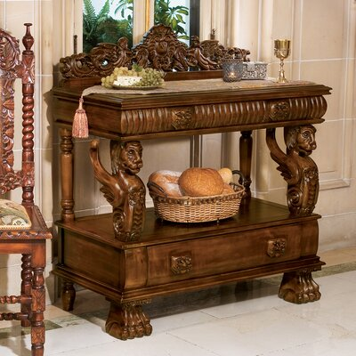 Design Toscano The Lord Raffles Winged Lion Buffet