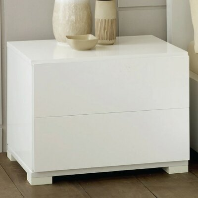VIG Furniture Modrest 2 Drawer Nightstand