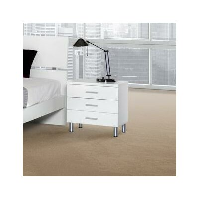 Wade Logan Belafonte 3 Drawer Nightstand