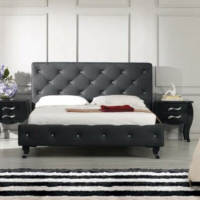 VIG Furniture Monte Carlo Upholstered Platform Bed