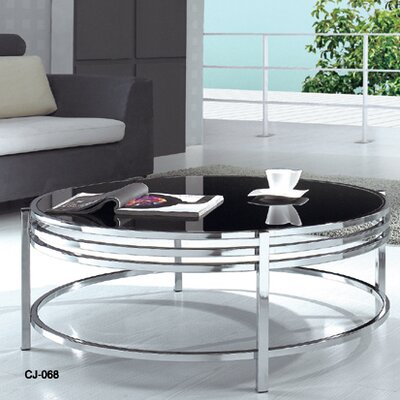 Wade Logan Patterson Coffee Table with Gl..