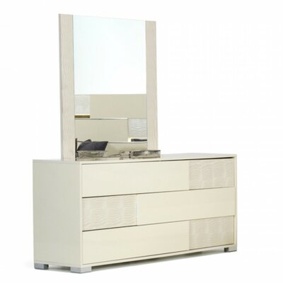 VIG Furniture Modrest Ancona 3 Drawer Dresser wi..