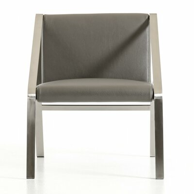 Wade Logan Wesley Modern Bonded Leather Side Chair