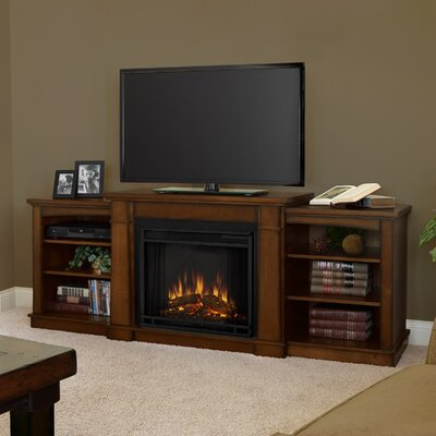 Real Flame Hawthorne TV Stand with Electric Fireplace