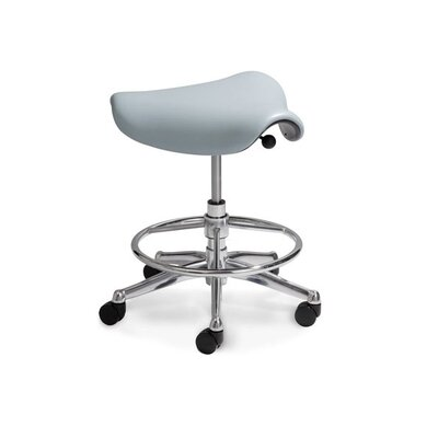 Humanscale Height Adjustable Saddle Seat with Casters
