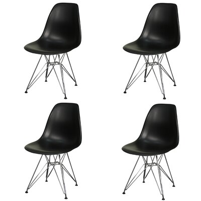 New Pacific Direct Allen Side Chair with Metal Wire Legs (Set of 4)