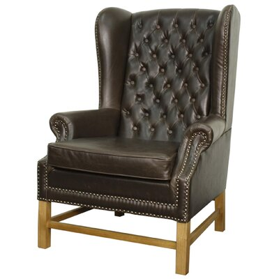 New Pacific Direct Graham Bonded Leather Armchair