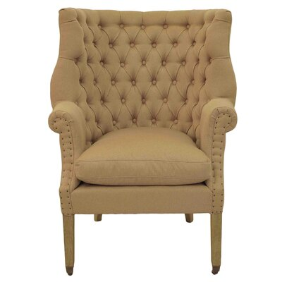New Pacific Direct Kingsley Tufted Wing Armchair