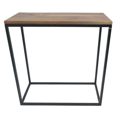 BIDKhome Wood and Iron End Table