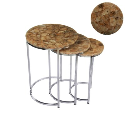 BIDKhome 3 Piece Nesting Table