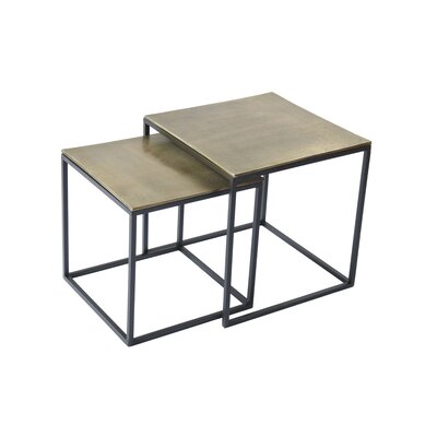 BIDKhome 2 Piece Iron/Aluminum End Table Set