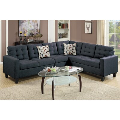 Poundex Bobkona Burril Reversible Sectional