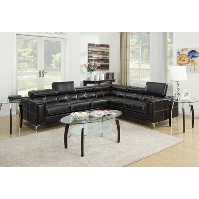 Poundex Bobkona Claxton Sectional