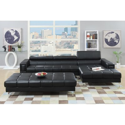Poundex Bobkona Hayden Sectional