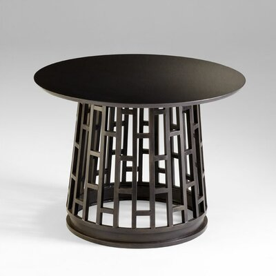 Paulo Foyer Table in Raw Steel