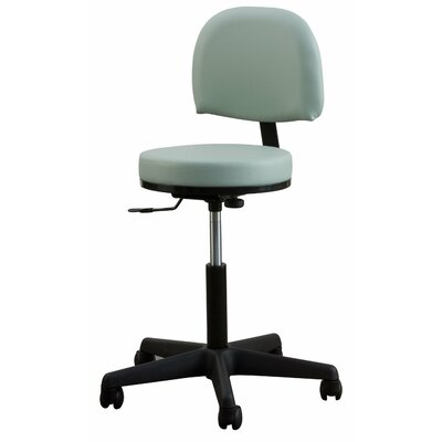 Oakworks Height Adjustable Premium Stool with Backrest