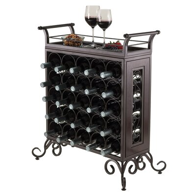 Luxury Home Silvano 25 Bottle Floor Wine Rack