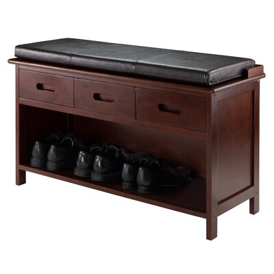 Luxury Home Adriana Wood Storage Bench Image