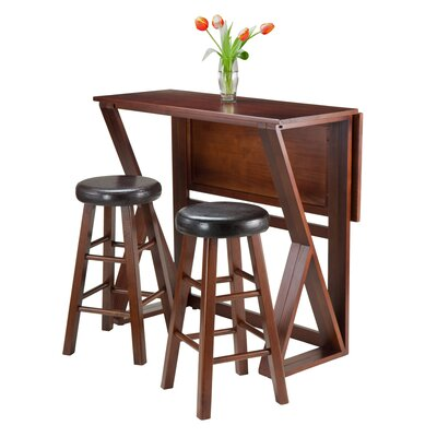 Luxury Home Harrington 3 Piece Pub Table Set