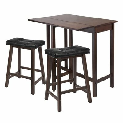 Luxury Home 3 Piece Counter Height Table Set