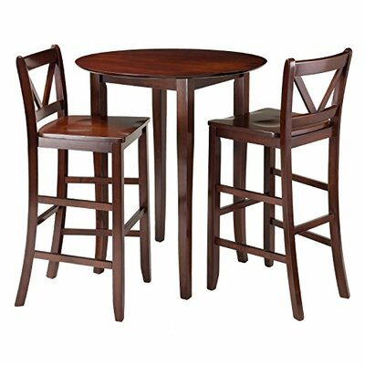 Luxury Home Fiona 3 Piece Pub Table Set