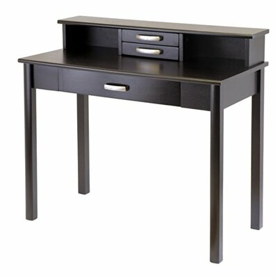 Luxury Home Liso Writing Desk with Hutch